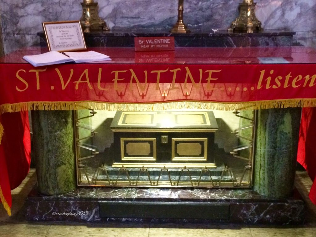 The remains of Saint Valentine in Dublin