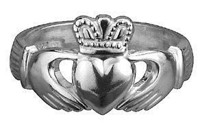 Girl's Silver Claddagh Ring