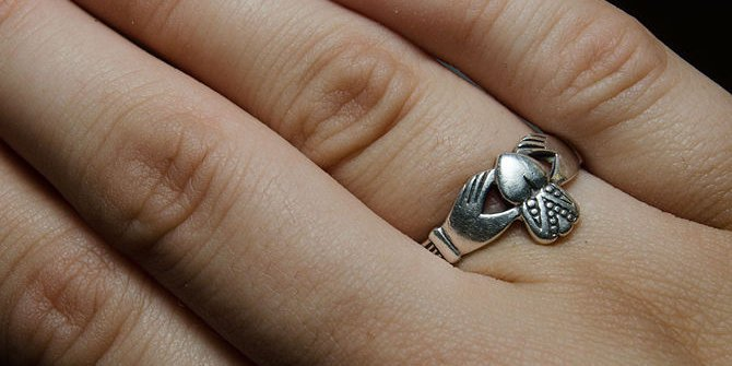 What hand do you wear a claddagh ring on